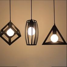 Lámparas colgantes Retro Vintage lámpara LED jaula de metal lámpara colgante con bombilla LED G80