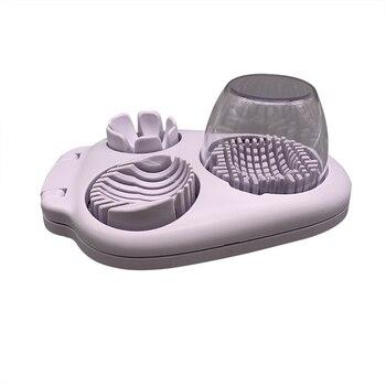 3 Á� 1 Ã�ルチ半熟卵スライサーカッター多機能ステンレス鋼スライサー Wedger Ã�イサーツール J2Y