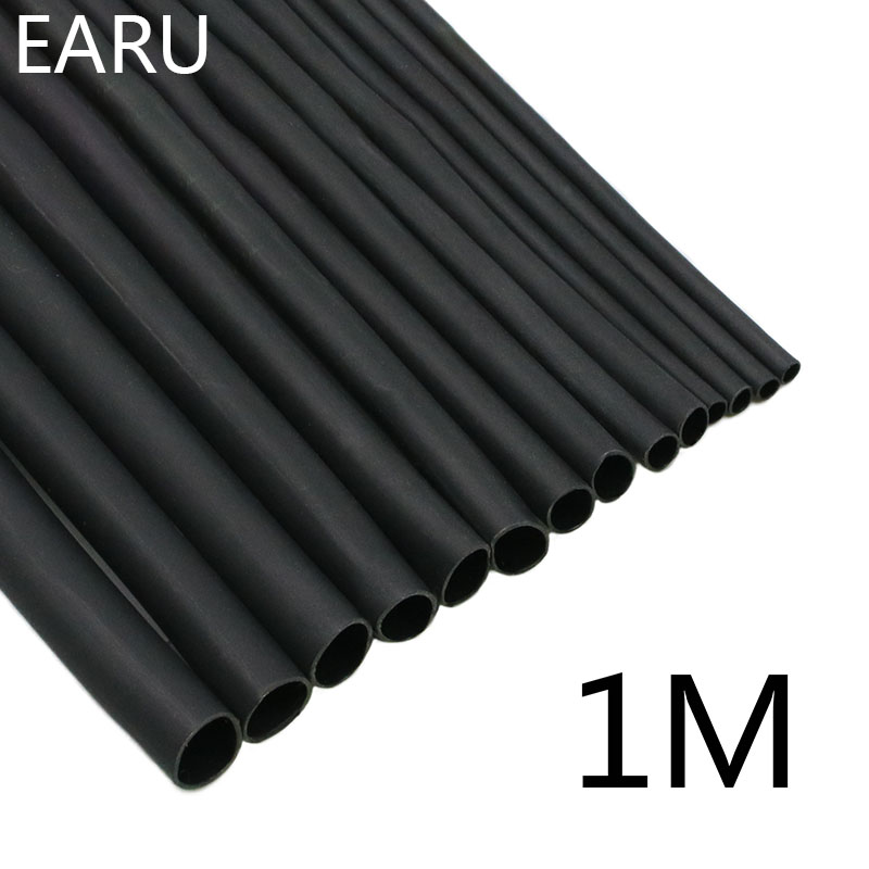 Heatshrink Tubing-Tube Sleeving-Wrap Connector-Repair Wire-Sell DIY 6 Black 8 1-Meter/Lot
