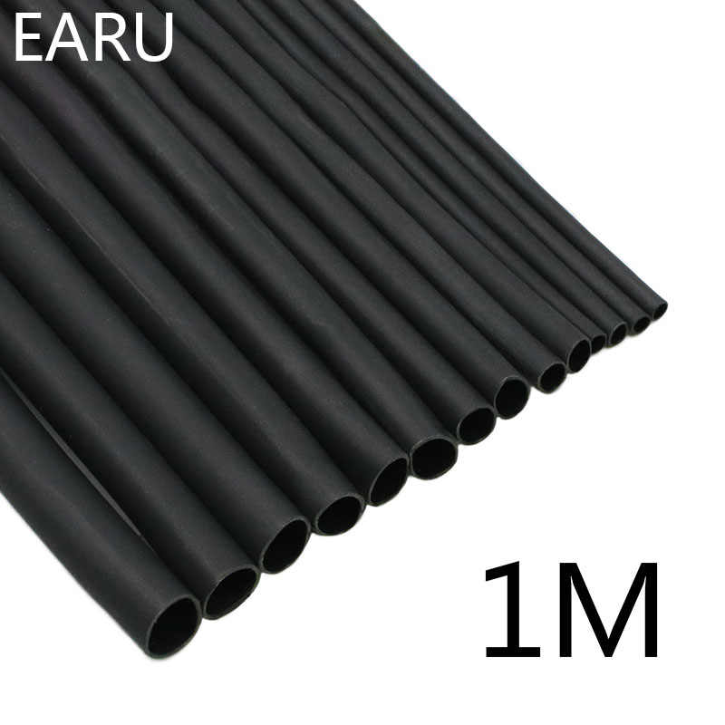 1 Meter/lot 2:1 Black 1 2 3 5 6 8 10mm Diameter Heat Shrink Heatshrink Tubing Tube Sleeving Wrap Wire Sell DIY Connector Repair