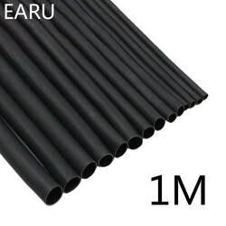1 м/лот 2:1 черный 2 3 5 6 8 10 мм Диаметр Термоусадочные термоусаживающие трубки Sleeving обёрточная бумага провода продать DIY разъем ремонт