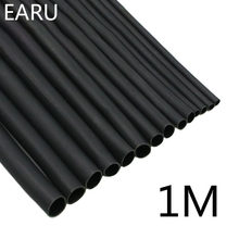 1 mètre/lot noir 2:1 1 2 3 5 6 8 10mm | Diamètre, Tube thermorétractable thermorétractable, fil enroulé, vente bricolage réparation de connecteurs(China)