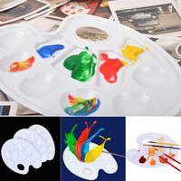 5 Pintura Acrílica Mistura Desenhe Prego Óleo Aquarela Paleta de Cores Paleta de Desenho Bandeja de Plástico Bandeja de Pintura Da Arte Da Pintura do Artista Pallet