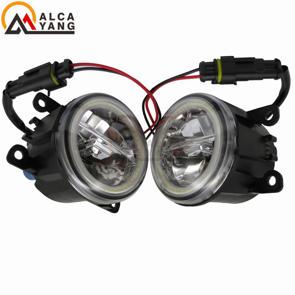 12V DRL Fog Lamps Lighting LED Lights Fog Lights For Ford Focus MK2/3 Fusion Fiesta Tourneo Transit 2001-2015 Angel Eye . car styling led angel eyes fog lights high power drl fog lamps h11 for ford c max fusion 2013 2016