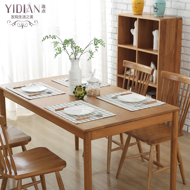 2pcs/lot canvas Placemat Printing lattice Stitching Dining Table ...