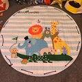 1.5 m Tapete de Algodão Rodada Crianças Ginásio Jogar Game Pad Mat Brinquedos do bebê Organizador Bolsa De Armazenamento Cobertor Tapete Cor de Praia Interior Mat