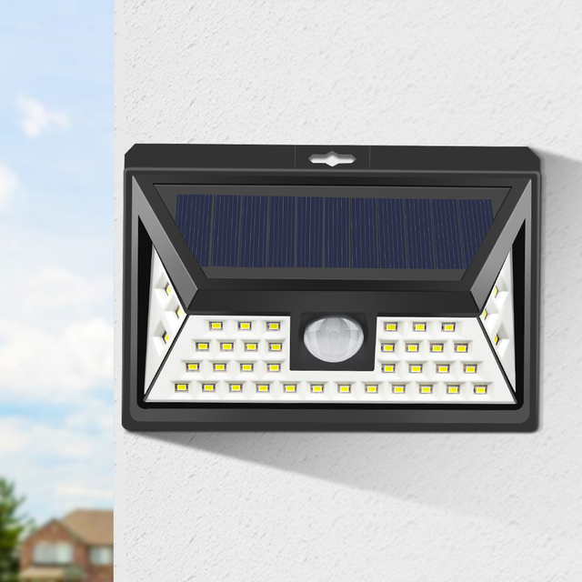Rehargeable Led Solar Porch Light Bulb Pir Motion Sensor Outdoor Garden Wall Patio Yard Street