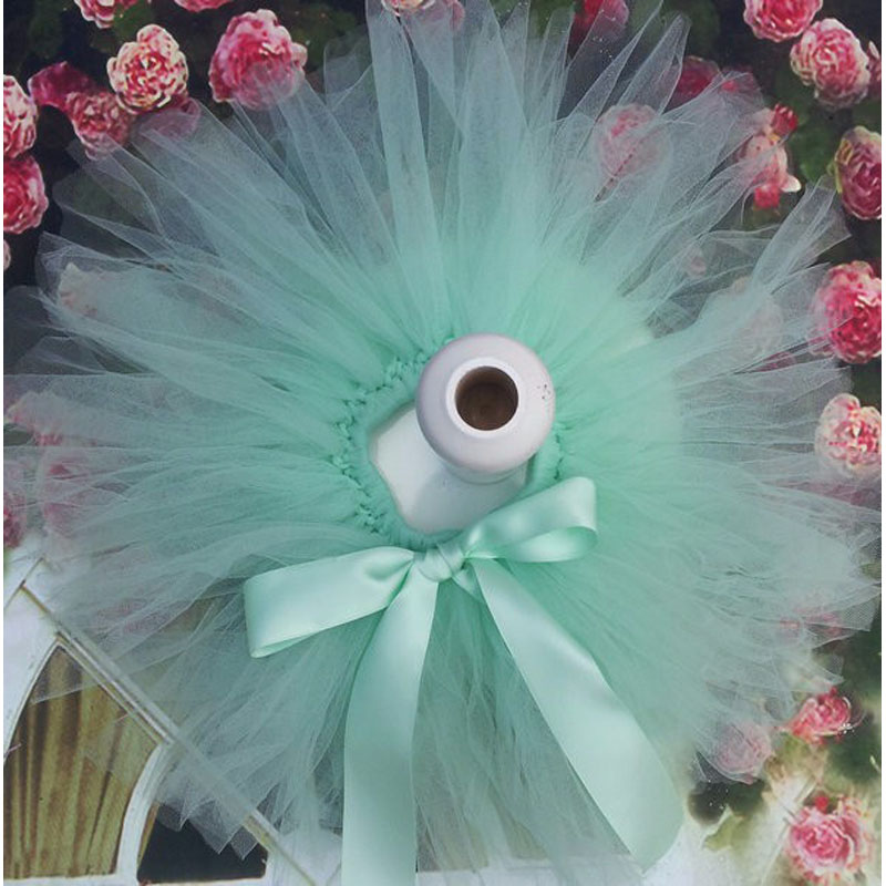 Лидер продаж; фатиновая юбка-пачка для маленьких девочек и повязка на голову с цветами; Комплект для новорожденных; реквизит для фотосессии; подарок на день рождения; 10 цветов; ZT001 - Цвет: only skirt aqua