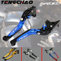 CNC Thumb Wheel Roller Motorcycles Brake Clutch Lever Adjustable Aluminum For Yamaha YZF R1 R1M R1S 2015 2018 2016 2017