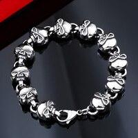 Beier 316L Stainless Steel Bracelet Punk Skull Bracelet For High Quality Fashion Skeleton Jewelry US EURO