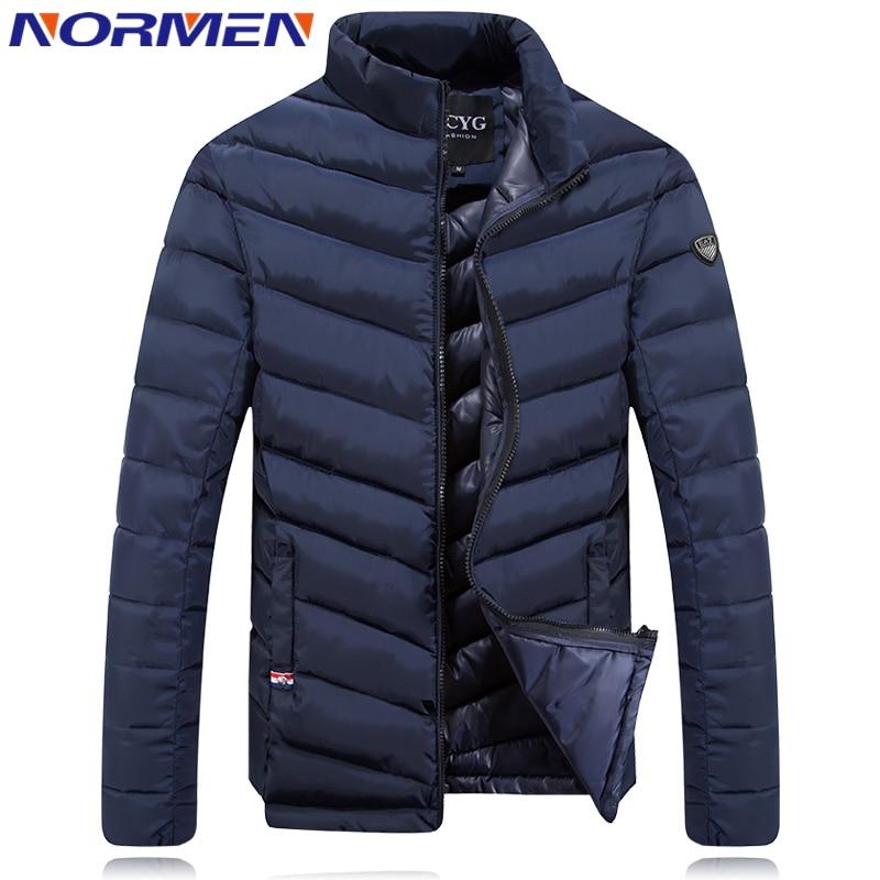 ФОТО Normen 2017 New Design Men's Slim Fit Parka Men Thick Hombre Invierno Fashion Warm Jaqueta Masculina Cotton Padded