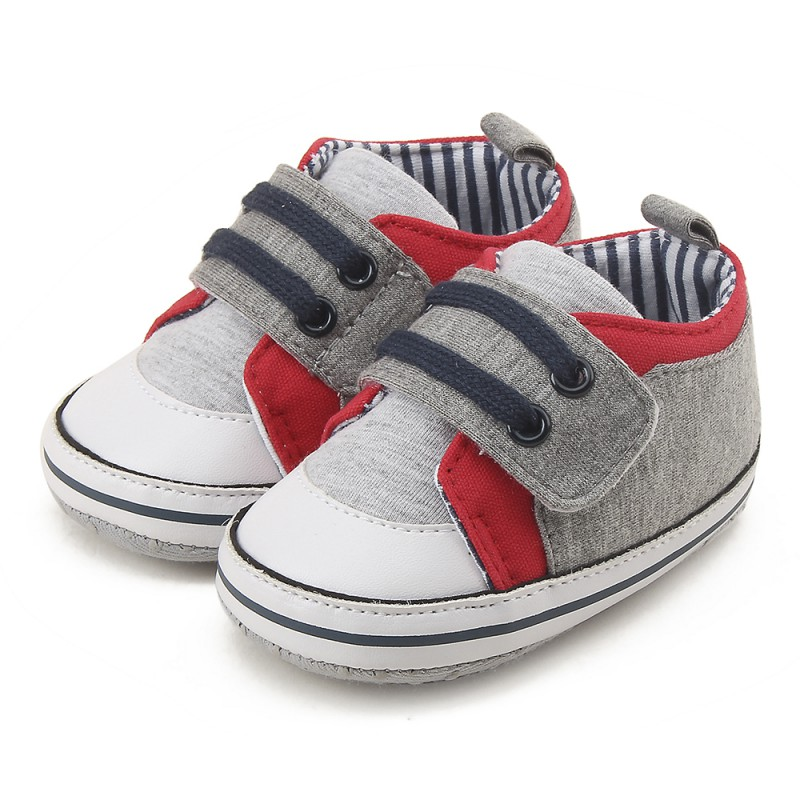 0-18M Newborn Baby Mocassins Infant Kids Boy Soft Sole Breathable Patch Canvas Sneaker Toddler Shoes