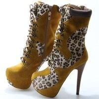 Популярные женские ботильоны на очень высоком каблуке с леопардовым принтом в стиле пэчворк; женские ботинки на шнуровке В рыцарском стиле;
