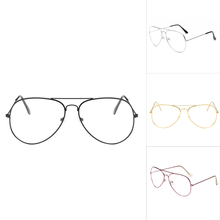 High Quality Classic Glasses Men Women Clear Lens Glasses Clear Metal Spectacle Frame Optics Myopia Eyeglasses Lunette Femme