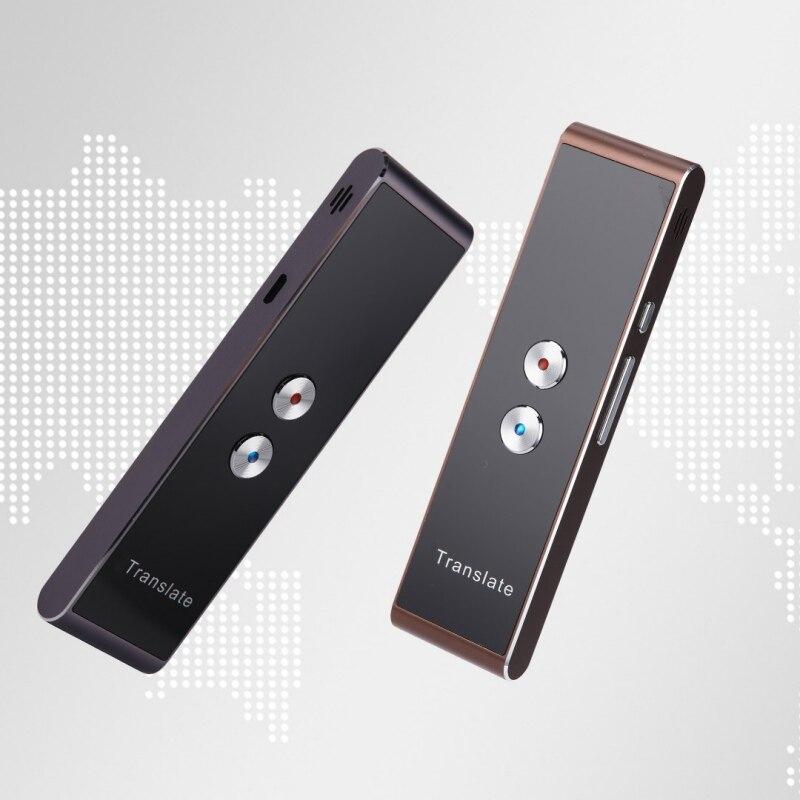 Traductor de voz inteligente portátil de dos vías en tiempo Real 30 traducción multilingüe para aprender a viajar reunión de negocios
