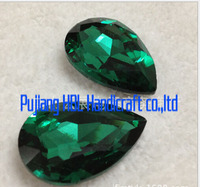 Peacoke green 13x18mm 20x30mm..Waterdrop Shape Droplet Sew On Rhinestones Sewing Stones For DIY, Casual Dress