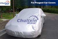 Car covers Waterproof Sun UV Snow Dust Rain Resistant Protection Gray for Peugeot 206 207 301 307 308 408 508 2008 3008 RCZ