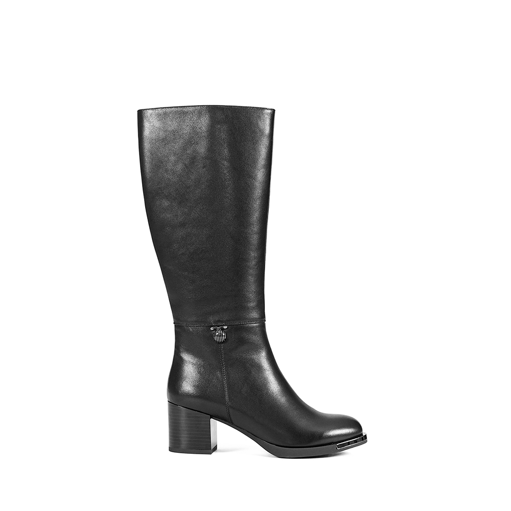 SOPHITINAWomen s Winter Shoes Genuine Quality Cow Leather Knee High Boot Retro Round Toe High Heel