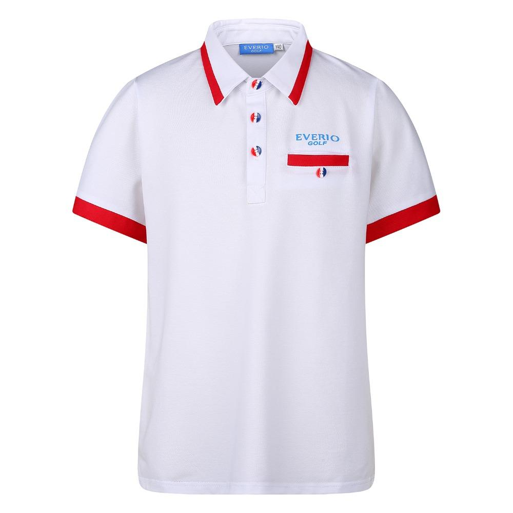 EVERIO Summer Golf t Shirts Short Sleeve Golf Sportswear Men Breathable Quick Dry sport Golf Polo Shirts tops 5 colors S-2XL