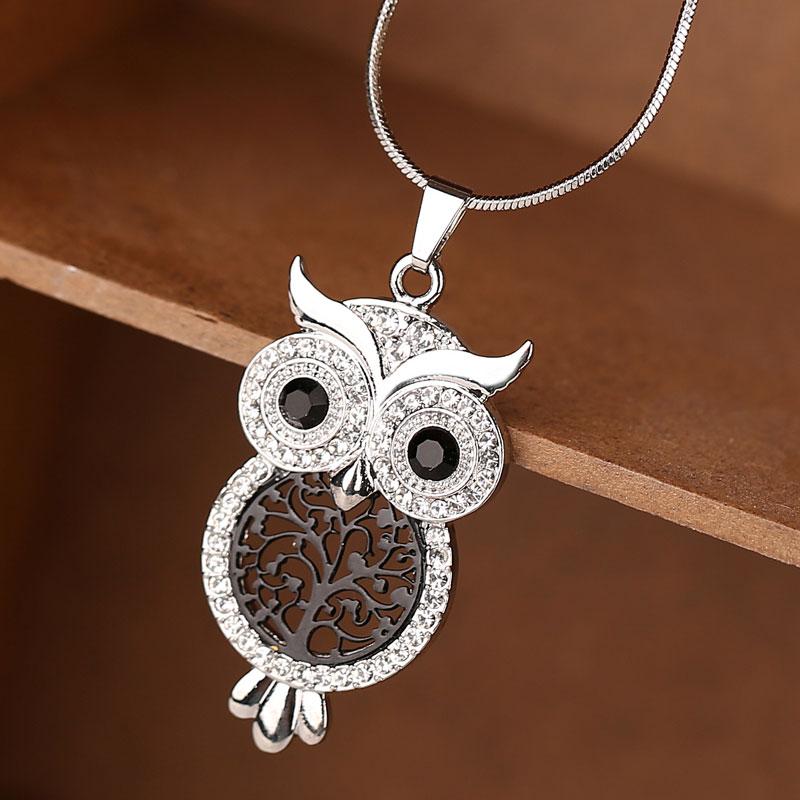 2018 Hot Sale Vintage Jewelry Owl Pendant Necklace Women Tree Of Life Snake Chain Jewelry Necklaces & Pendants Bijoux kolye