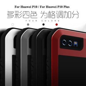 Image 4 - Love Mei Métal étui pour Huawei P10 P10 Plus Antichoc Couverture de Téléphone Pour Huawei P10 Plus Robuste Corps Entier Anti Chute Étui Darmure