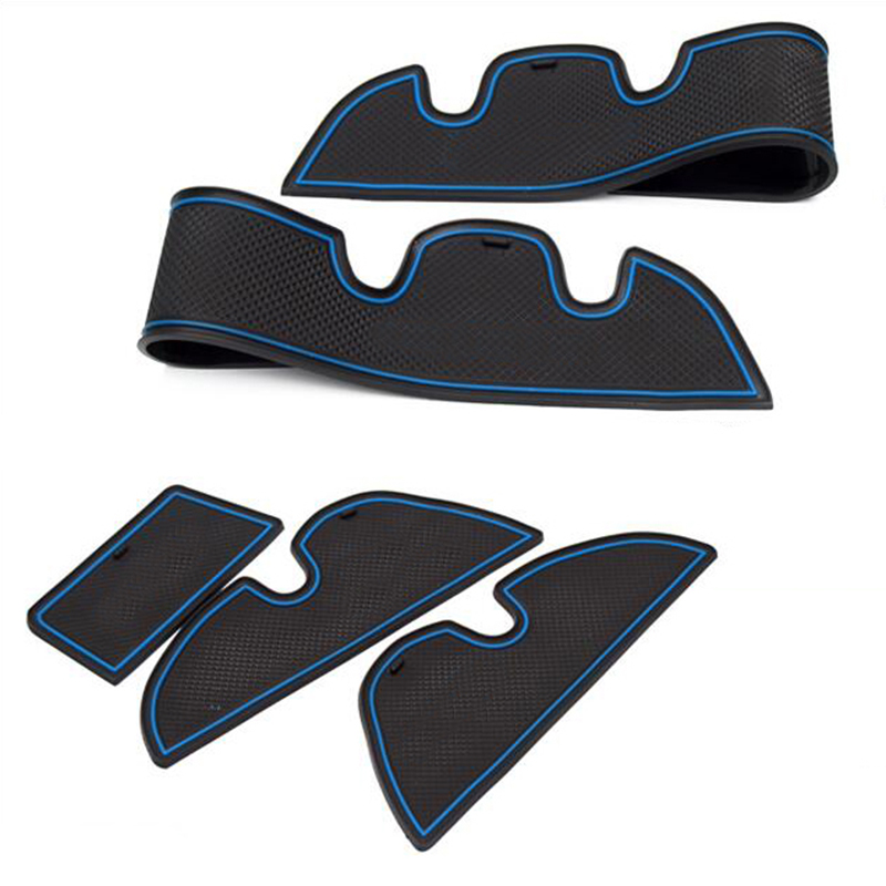 lowest price 15pcs Anti-Slip Rubber Cup Cushion Door Groove Mat  for Toyota Highlander XU50 2014 2015 2016 2017 2018 Accessories Car Styling