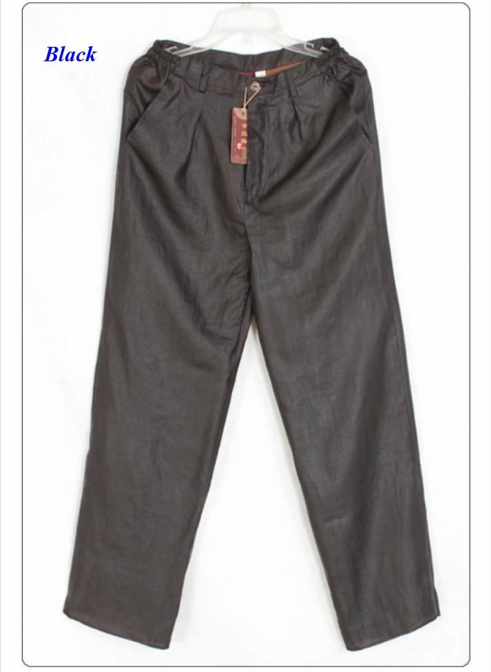 Occidental 100 Mâle Canton Pur Gambiered Pantalon De Gaze Black Guangdong Naturel Pantalon Style Hommes Soie vSWvPqr