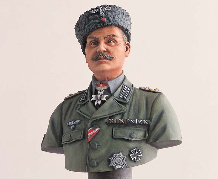 pre order-Resin toys  L2103 200mm Bust  GERMAN COSSACK COLONEL W/BASE  Free shipping resin assembly kits 1 9 200mm police girl 200mm unpainted kit resin model free shipping