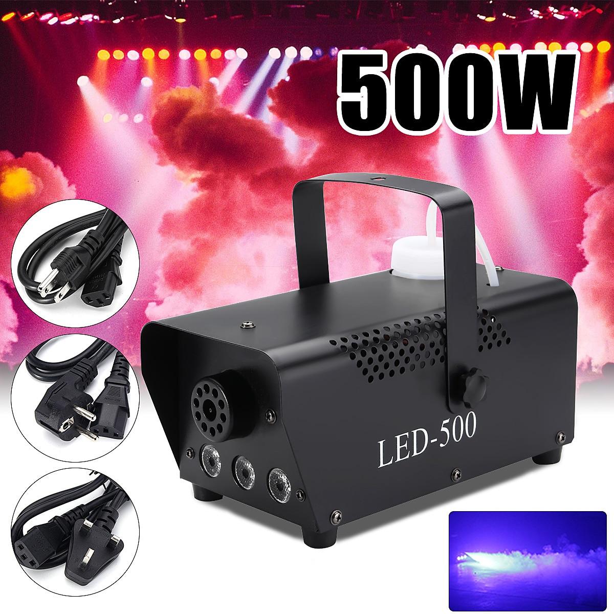 500 W дистанционного Управление машинка для дыма светодиодный диско-свет Рождественские лампа RGB дымовой проектор для ди-джеев для вечеринок ...