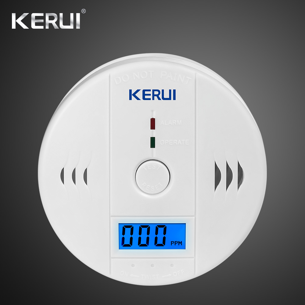 LCD Photoelectric Carbon Monoxide Home Security Alarm CO Gas Sensor Detector Alarm Warning High Sensitive Independent 1