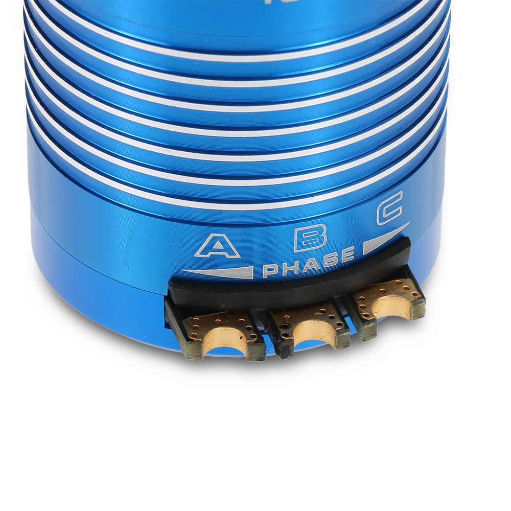 Nuevo Motor sin escobillas de alta eficiencia 540 Sensored para coche 1/10 RC azul, 10,5 T 3450KV