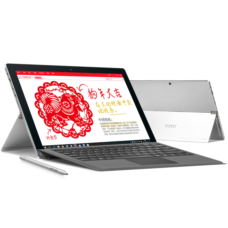 Gorgeous 12.6 Inch OGS Screen Gaming Laptop VOYO VBook I7 Plus 2in1 Tablet PC I7 7500U Touchscreen 16GB RAM 512G SSD Type-c HDMI