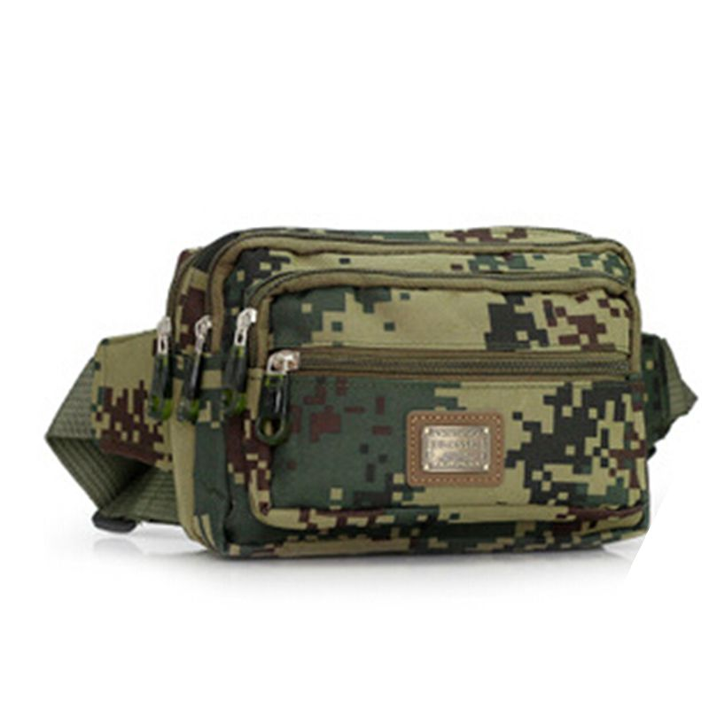 71ca278c43 Matériel militaire Taille Sac Hommes Armée Fanny Pack Camouflage Casual  Mobile Ceinture Sac de Taille de Voyage Pack