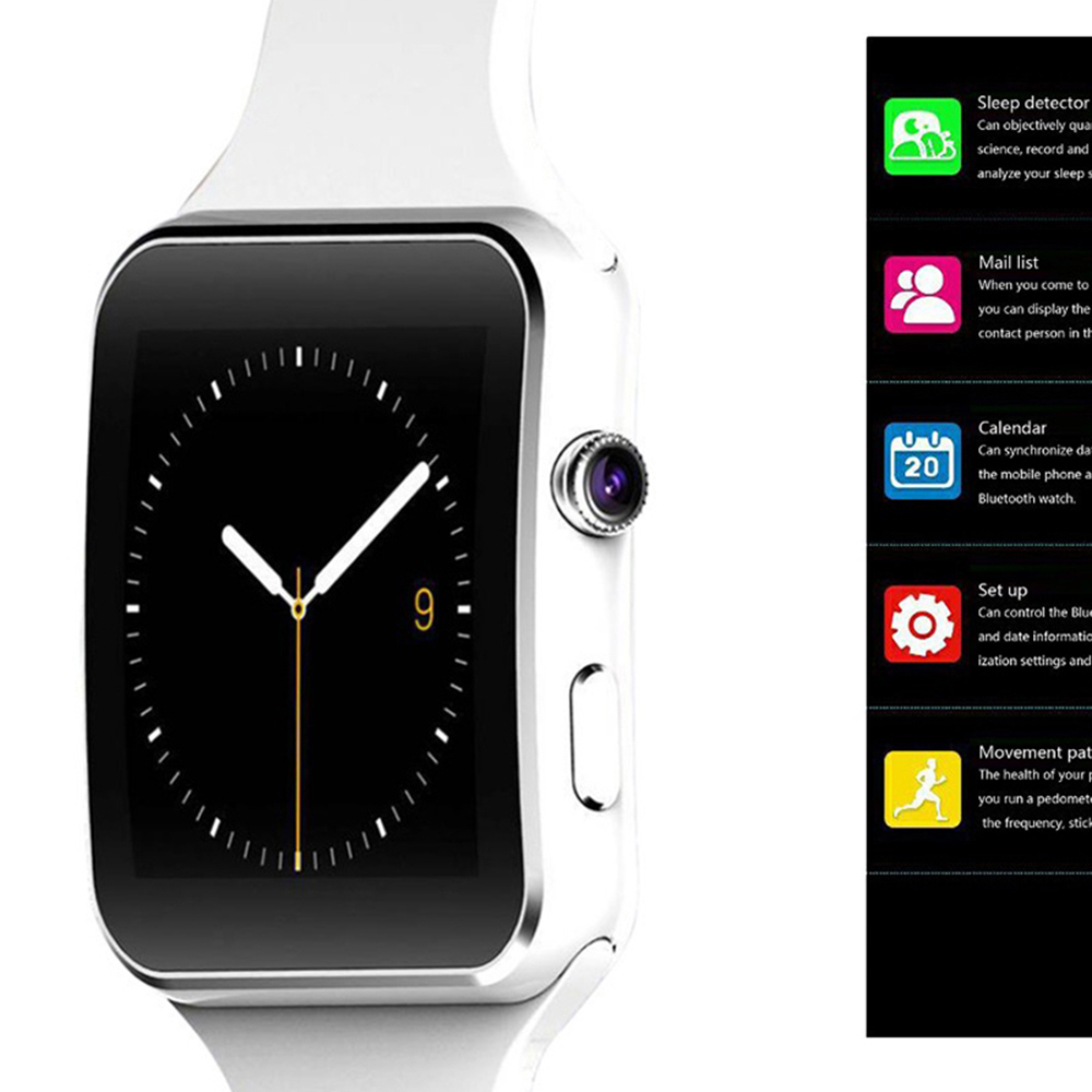 X6 Smart Watch Support SIM TF Card h Camera Smartwatch Bluetooth Dial/with Camera Touch Screen For iPhone Xiaomi Android IOS 8