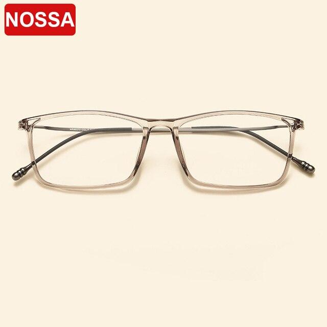 5c1b9175685 NOSSA Brand Designer TR90 Ultralight Vintage Square Glasses Frames Fashion  Goggles Women Men Trendy Prescription Optical