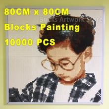 "10000Pcs ""Ury"" suderinamas ""Legoe MOC"" rinkinys ""Private Customized Design for You"" ""Build Yourself"" ""Mosaic"" tapybos pastato blokai 80CMx80CM"