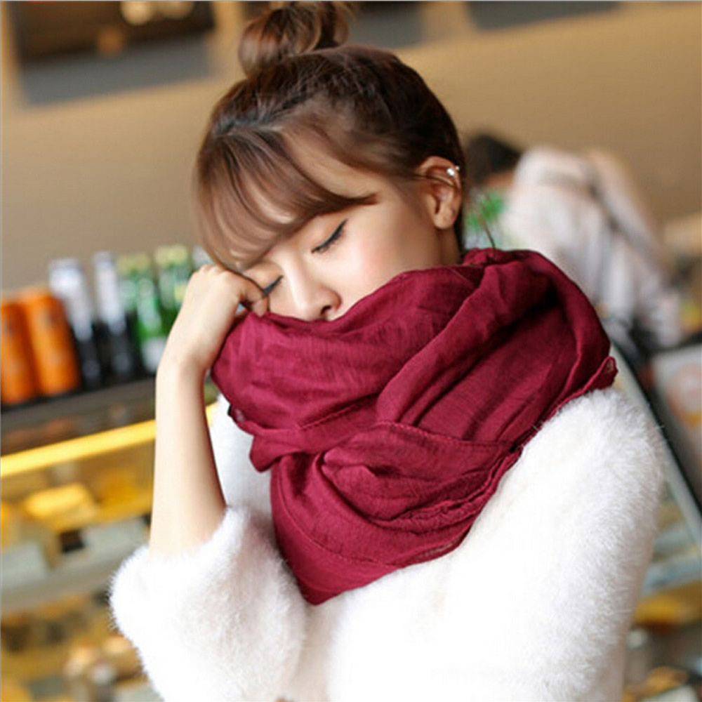 180*50cm 2018 Autumn Winter Fashion Women's Candy Colors Long   Scarves   Soft Cotton   Scarf     Wrap   Shawl   scarves   Accessories 9 colors