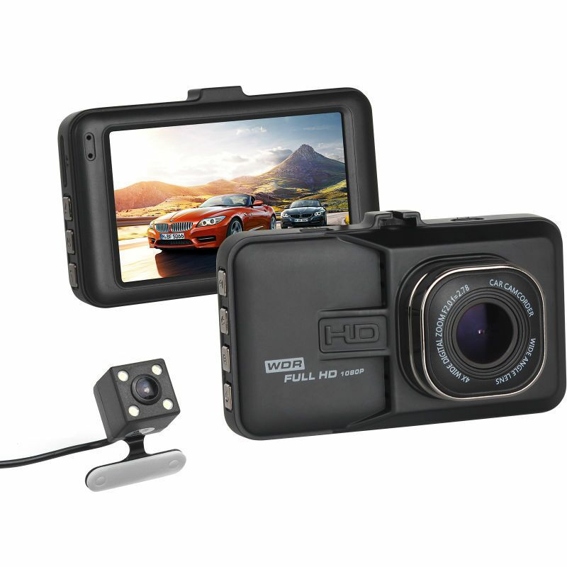 3 Inches Car-detector Night Vision Double Lens Dash Cam HD 1080P Ultra Wide Angle DVR Car Camera High Quality Driving Recorder