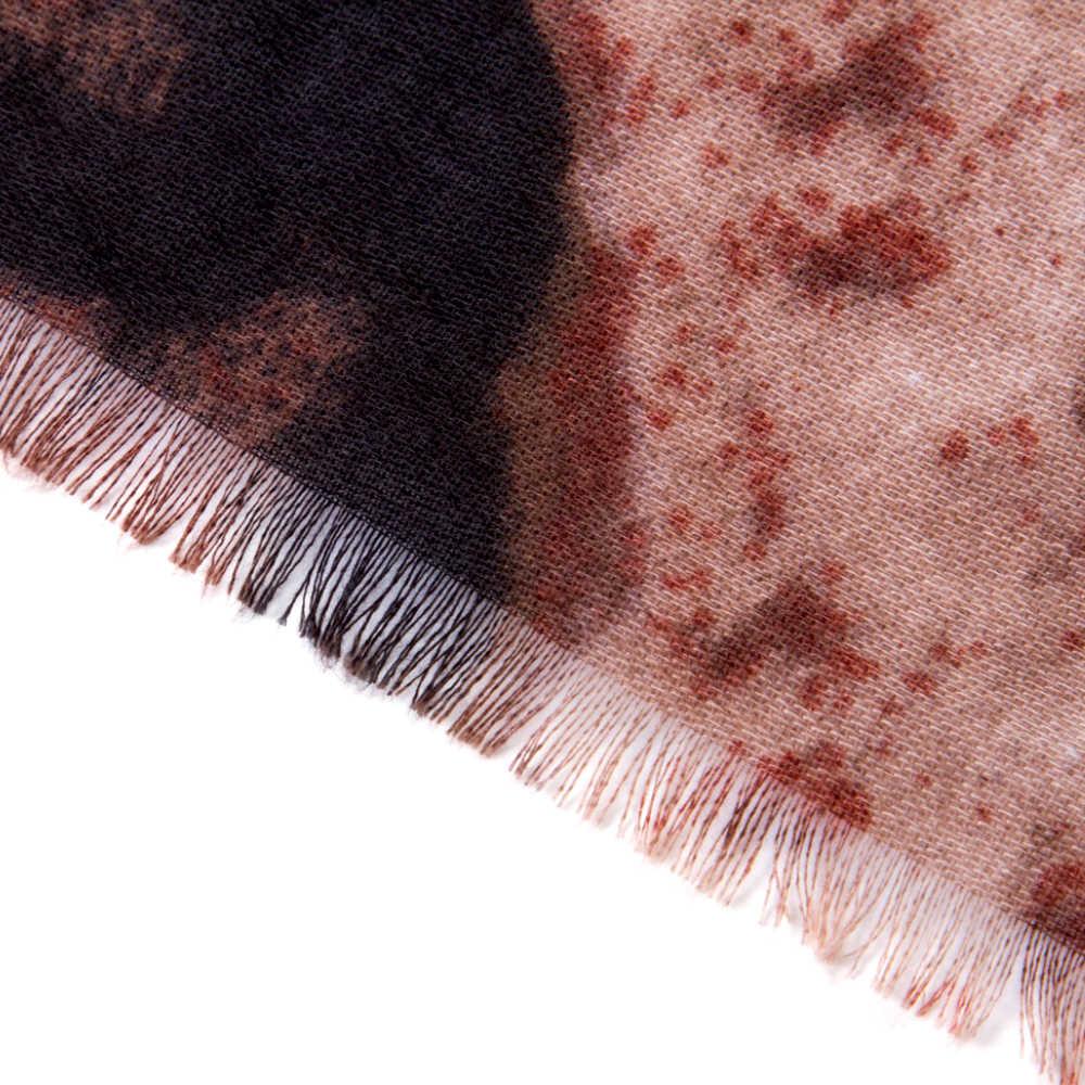 VIANOSI ブランドデザイン冬の女性のスカーフスカーフファムプリント蝶綿秋スカーフバンダナスカーフ