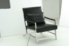 cow genuine leather chair/real leather leisure chair / living room chair home furniture stainless steel chair
