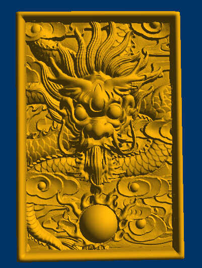 Dragon 3D model in STL file for CNC router carving relief