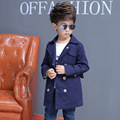 Cotton Baby Born Leisure Boys Trench Coat Long Windbreaker Children with Print Fur Trench Coat for Kids Full Winter Parka Boys