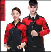 S 4XL 2017 Long Sleeve Work Wear Set Male Female Mechanical Tooling Uniform Canvas Beauty