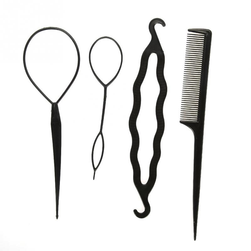 15Pcs/Set Hair Styling Twist Tool Braid Ponytail Bun Maker Hair Makeup Styling Accessories