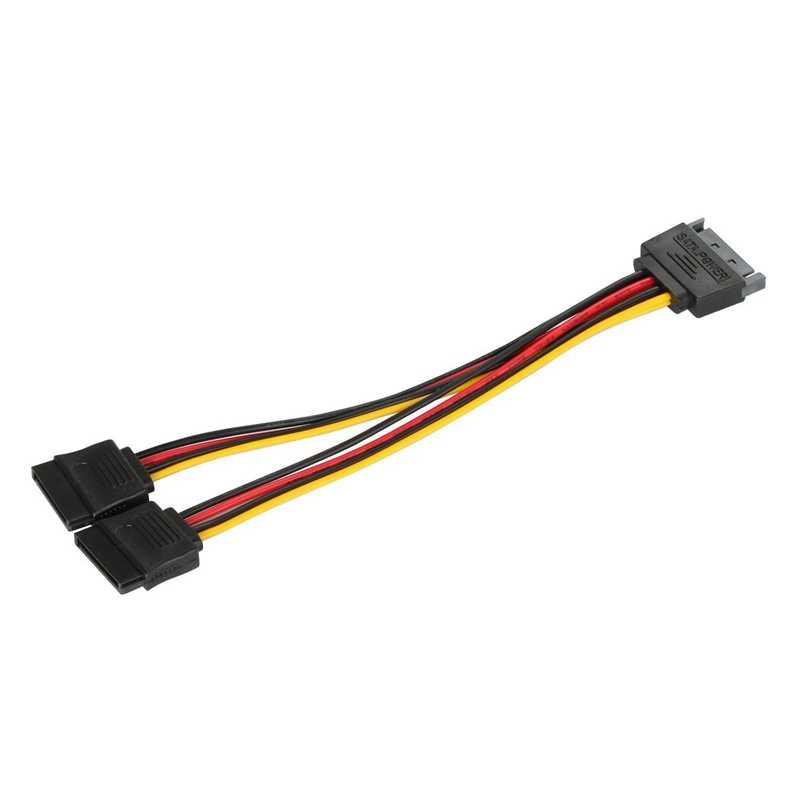 SATA Мощность 15-pin Y сплиттер Кабель-адаптер мужчин и женщин для Жесткий диск для жесткого диска