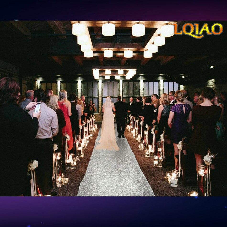 2018 New 4FTx25FT Silver/White Wedding Aisle VIP Carpet