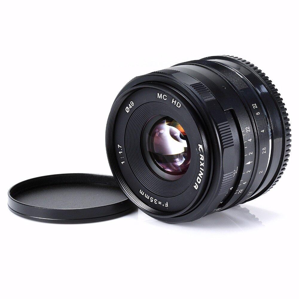 цена на Kaxinda 35mm F/1.7 APS-C Manual Fixed Lens For Olympus Panasonic Micro 4/3 M4/3 MFT Mount Mirrorless Cameras black