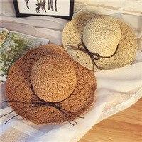 Mão chapéu de grama, senhoras verão grande, ao longo do escavado chapéu de sol, folding protetor solar, grandes beirais, Chapéu de sol Da Praia