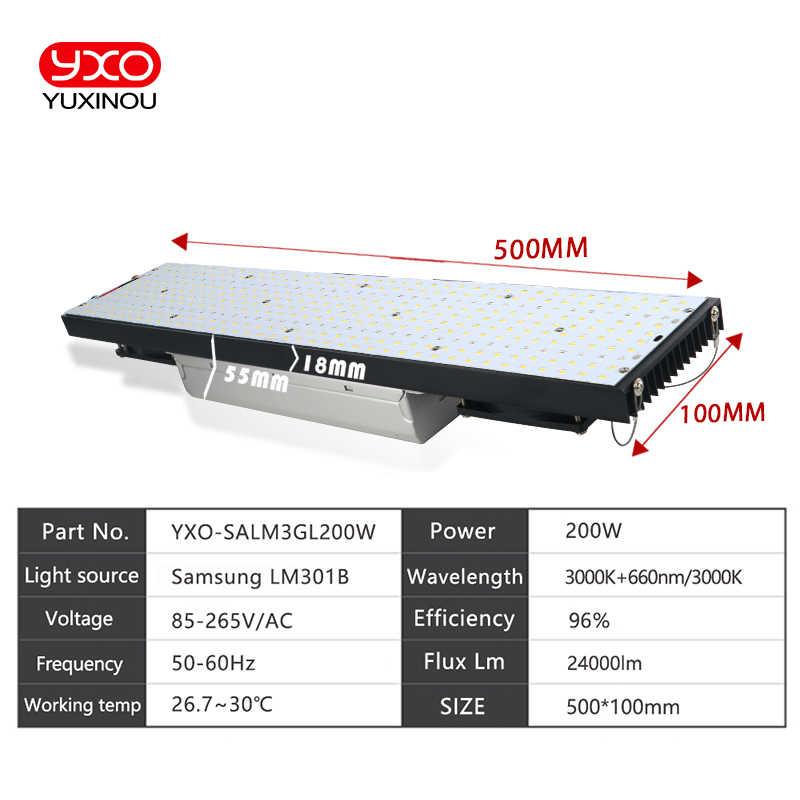 Светодиодный светильник для выращивания квантовой платы samsung LM301B светодиодный полный спектр 200 Вт 400 Вт 600 Вт samsung 3000 K 660nm, Veg/Цветение state Meanwell driver