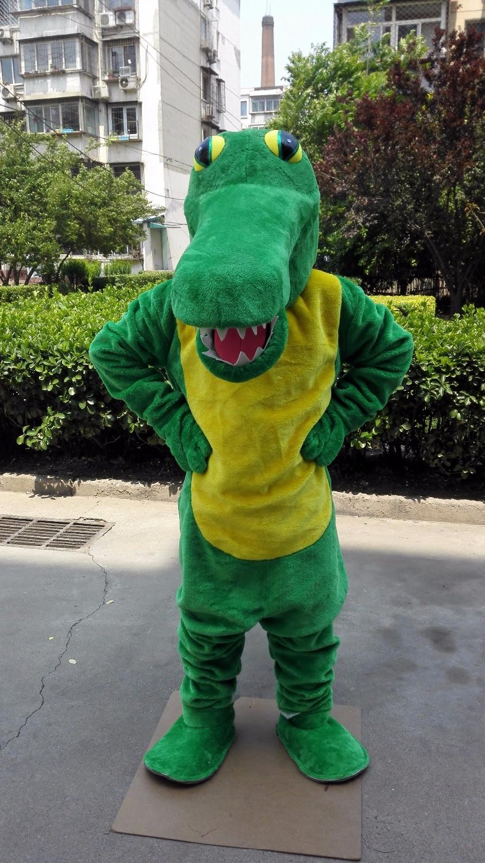 green cocodile aligator gator mascot costume custom fancy dress cosplay cartoon costume carnival costume41176